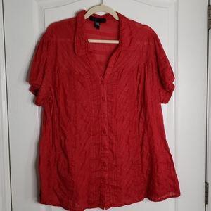 $5 ❤ Ashley Stewart woman's shirt size 22